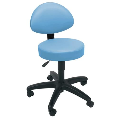 Gas-lift Stool + Back-Rest Cool Blue