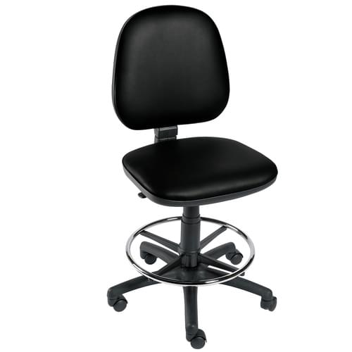 Gas-lift Chair with Foot Ring Black