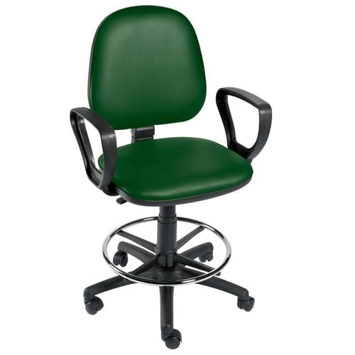 Gas-lift Chair + Arms + F/Ring Green