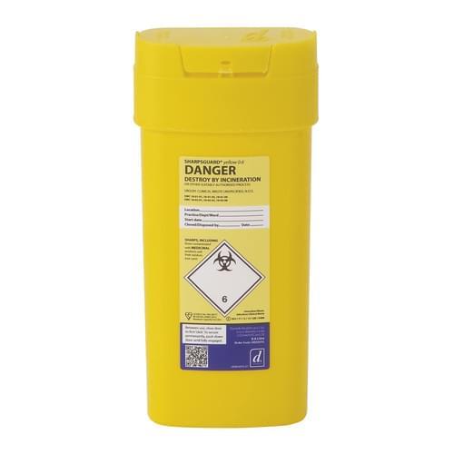 Yellow Sharps Bin 0.6L