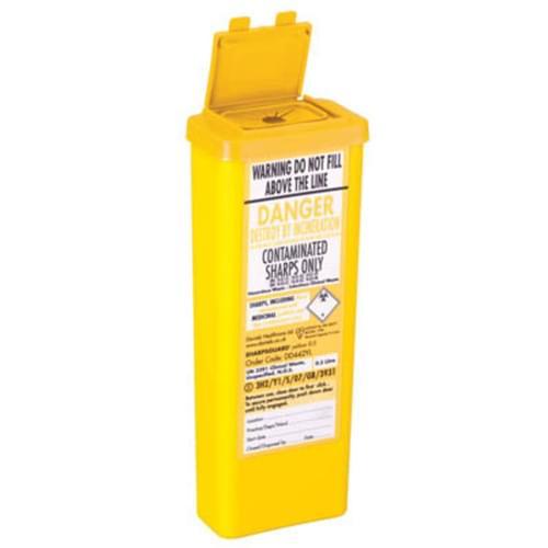 Yellow Sharps Bin 0.5L