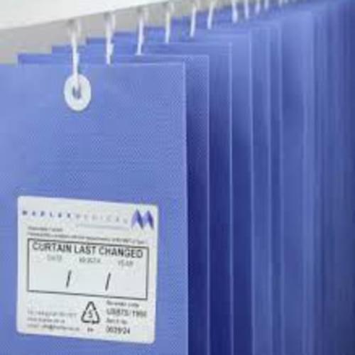 4.2m UNIV ANTI-BAC Curtain - Summer Blue