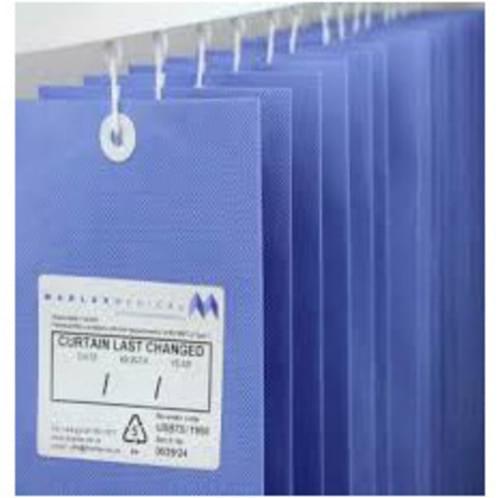 1.8m UNIV ANTI-BAC Curtain - Summer Blue