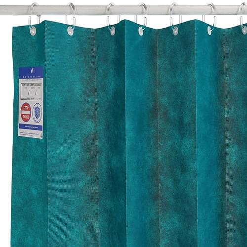 1.8m UNIV ANTI-BAC Curtain - Forest Green