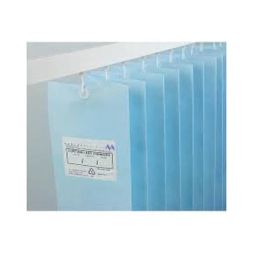1.8m UNIV ANTI-BAC Curtain - Pastel Blue
