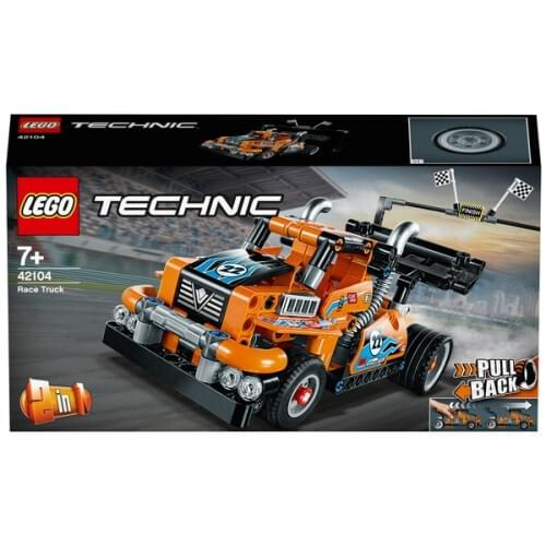LEGO 42104 Technic Pull Back Race Truck - Racing Car 2in1 Set