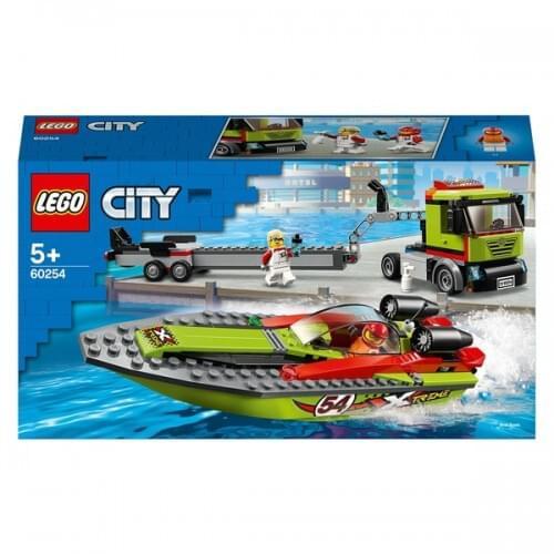 LEGO 60254 City Great Vehicles Race Boat Transporter