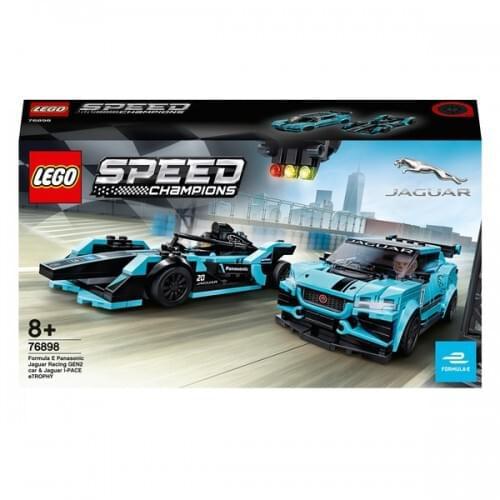 LEGO 76898 Speed Champions Formula E Panasonic Jaguar Racing GEN2 & Jaguar I-PACE eTROPHY
