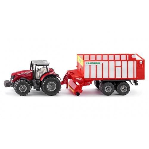 Massey Ferguson Tractor with Pottinger Wagon (1987)