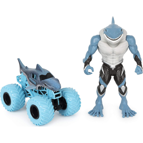 Monster Jam Official 1:64 Scale Monster Truck and 5-Inch Figure Set