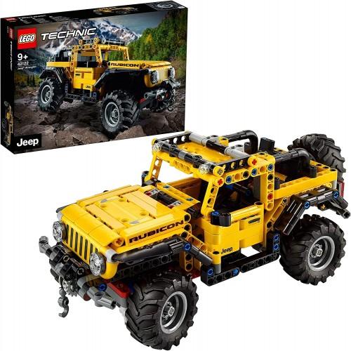 LEGO Technic Jeep Wrangler 4x4 Toy Car, Off Roader SUV