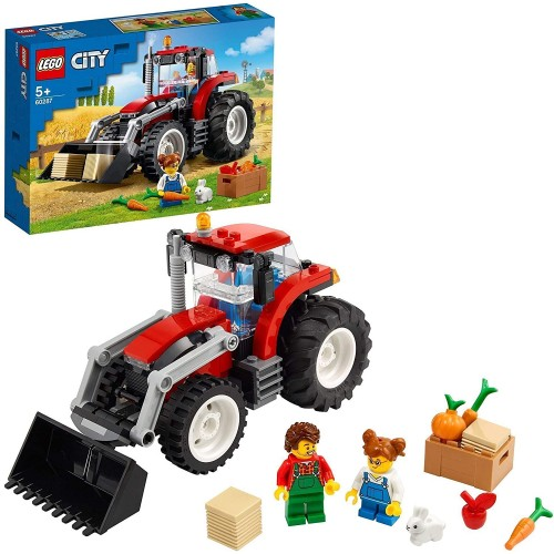 Lego 60287 City Great Vehicles Tractor Toy, Farm Set with Rabbit Figure