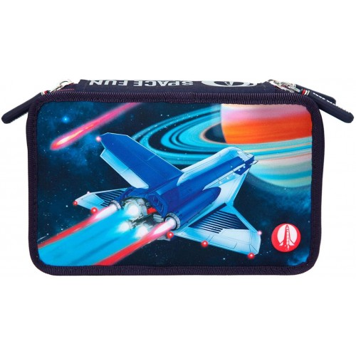Pencil case with LED, Monster Cars Space