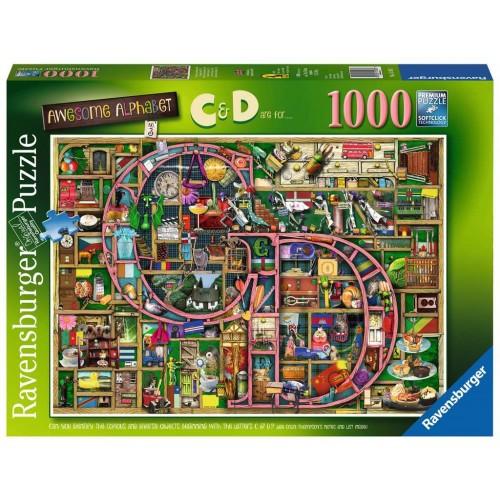 Awesome Alphabet C & D 1000 piece puzzle