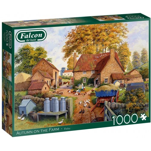 Jumbo, Falcon de luxe - Autumn on The Farm, Jigsaw Puzzles for Adults, 1,000 piece