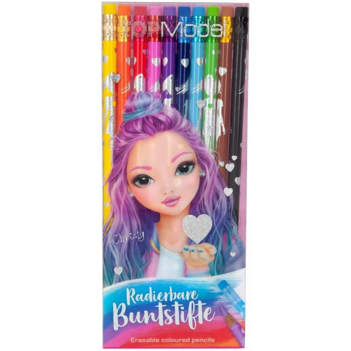 Coloured Pencils Top Model Erasable Pack of 10