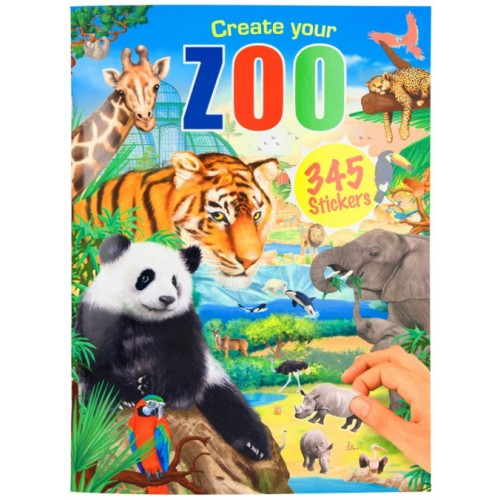 Depesche Create Your Zoo 11416 Colouring Book with Stickers