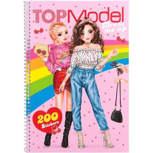 TOPModel Dress Me Up Colouring Book with Stickers