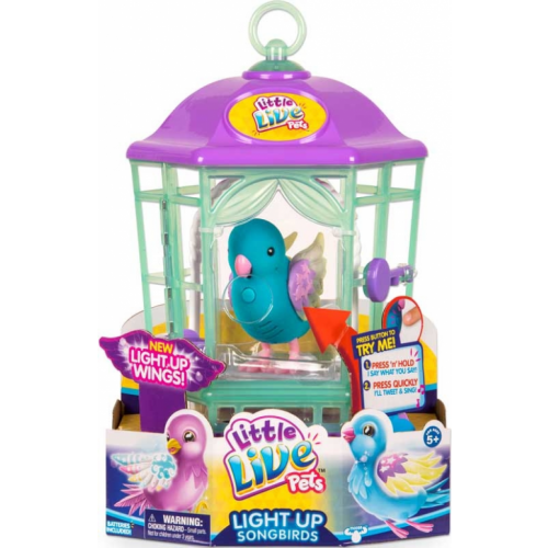 LITTLE LIVE PETS LIGHT-UP SONGBIRDS CAGE