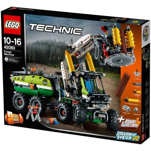 LEGO 42080 Technic Forest Machine Truck, 2 in 1 Tractor with Log Trailer