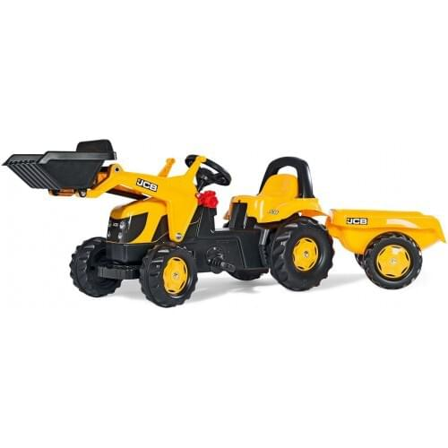Rolly JCB Kid-X Front Loader Tractor, Yellow