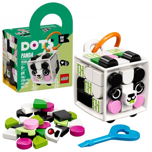 LEGO Bag Tag Panda DOTS