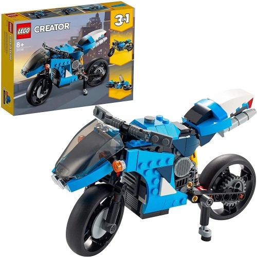 LEGO Creator 3 in 1 Superbike Toy Motorcycle to Classic Bike to Hoverbike