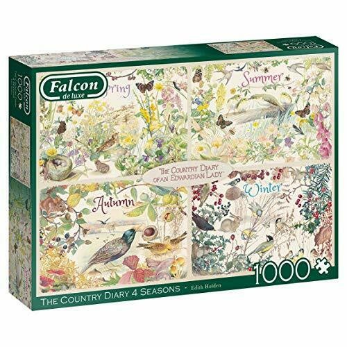Jumbo, Falcon de luxe - Country Diary 4 Seasons, Jigsaw Puzzles for Adults, 1,000 piece