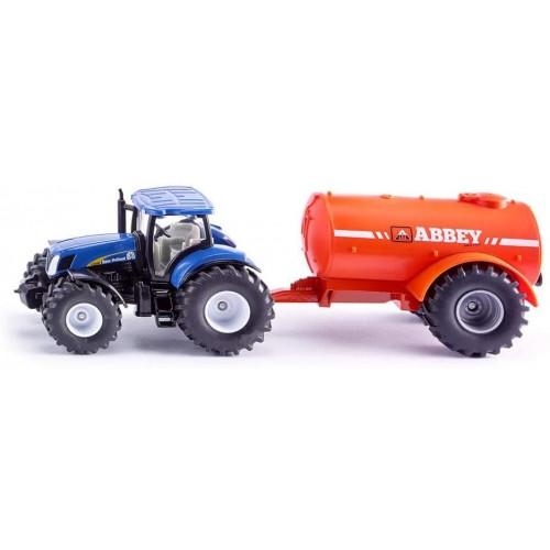 SIKU 1:50 Farmer Tractor with Single Axle Vacuum Tanker