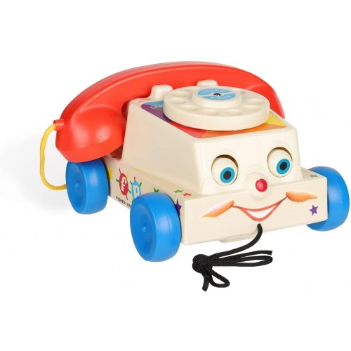 Fisher-Price Classics Chatter Telephone, Retro Baby Push Along Toy