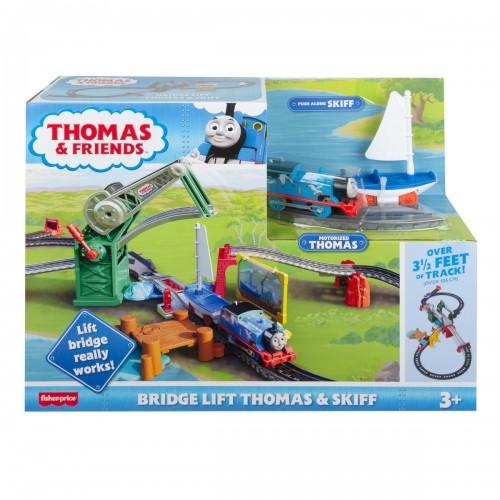 Thomas Push Along - Bridge Lift Thomas & Skiff Play Set