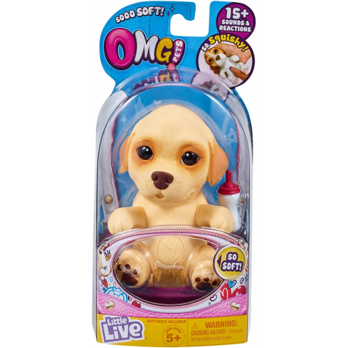 Little Live OMG Pets Soft Squishy Puppy That Comes to Life ASSORTED