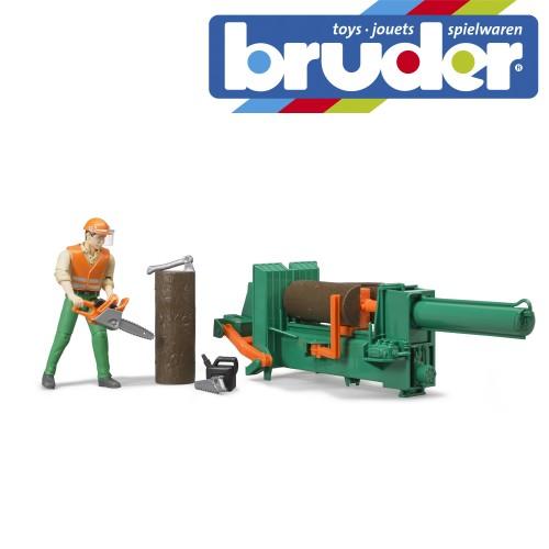 Bruder bWorld Forestry Set with Figure