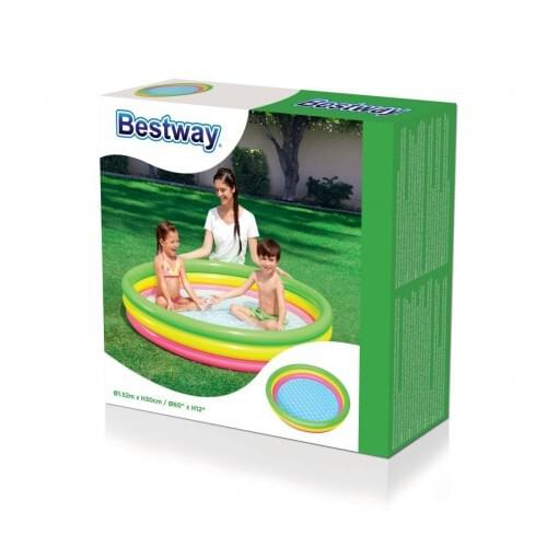 Bestway-Inflatable-Summer-Set-Pool-Kids-Fun-Paddling-Muti-Coloured-152xH30cm
