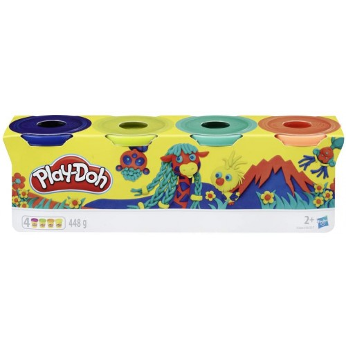 Play-Doh 4 Pack of Wild  colours