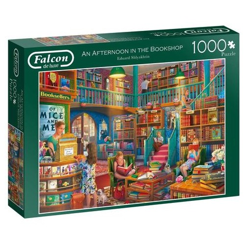 Jumbo, Falcon de luxe - Afternoon at The Bookshop, Jigsaw Puzzles for Adults, 1,000 piece