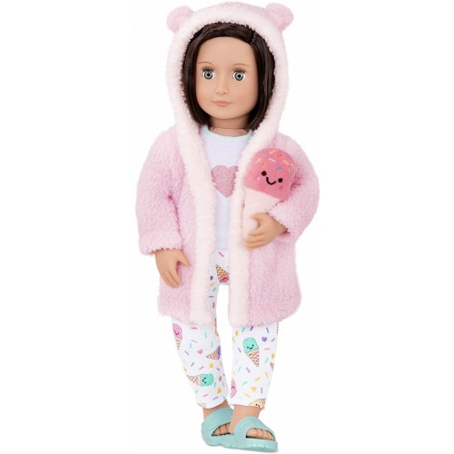 Our Generation - Doll outfit with bathrobe and ice cream