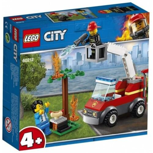LEGO 60212 4+ City Fire Barbecue Burn Out with Fire Engine Truck Toy,