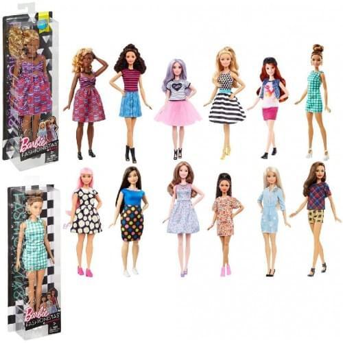 Barbie 900 FBR37 Assorted Fashionista Dolls