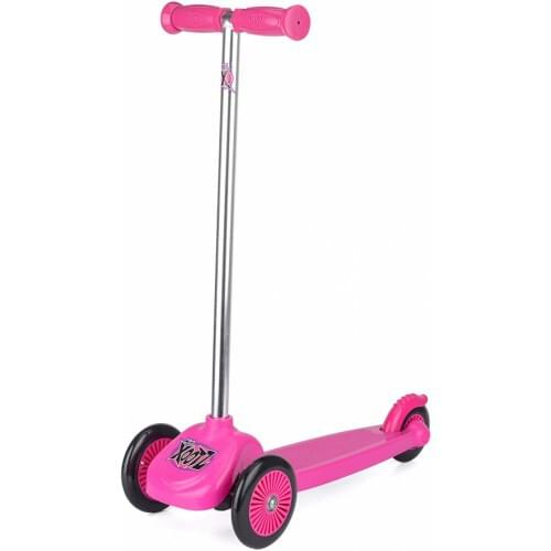Xootz Scooter with 3 Wheels, Tri-Scooter for Kids, Pink