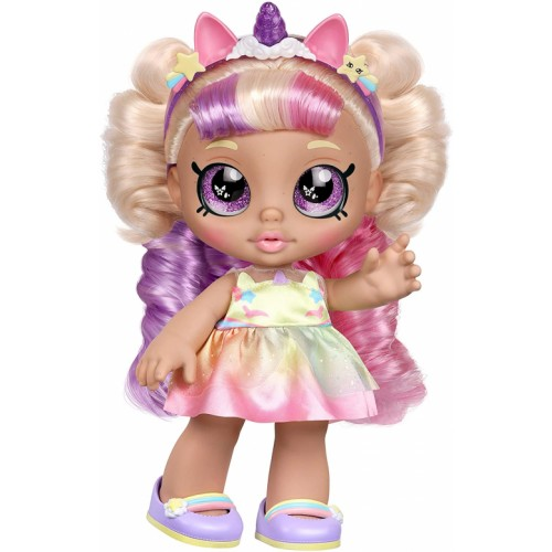 Kindi Kids Toddler Doll - Mystabella Unicorn Dress Up - Includes 2 Outfits and Shopkins Accessories