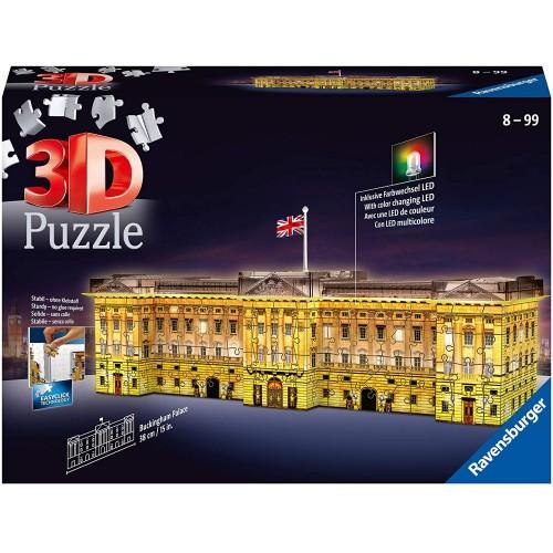 Ravensburger Buckingham Palace Night Edition 216 piece 3D Jigsaw Puzzle with LED lighting