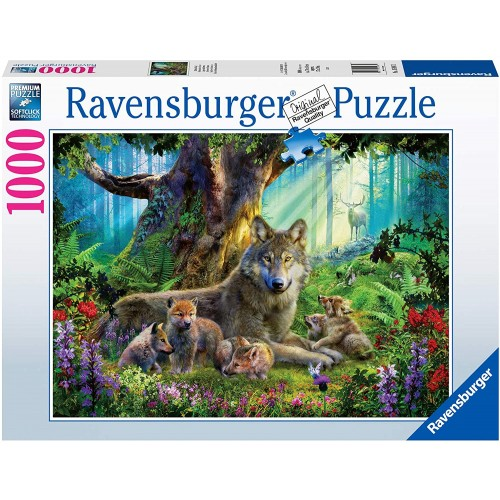 Wolves in the Forest 1000 Piece Jigsaw Puzzle for Adults & for Kids Age 12 and Up