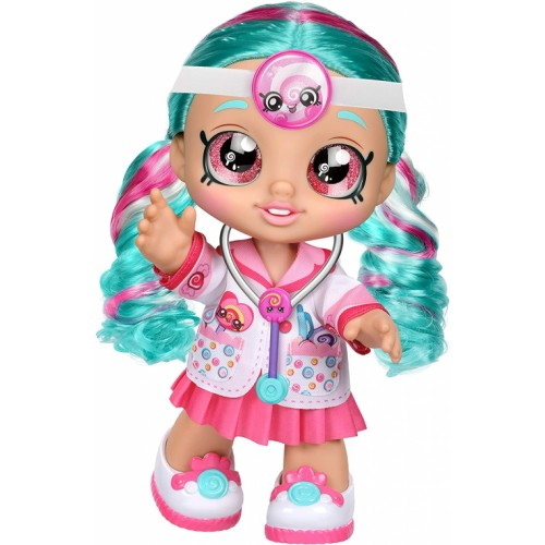 Kindi Kids Toddler Doll - Dr Cindy Pops Dress Up - Includes Stethascope and Shopkins Accessories