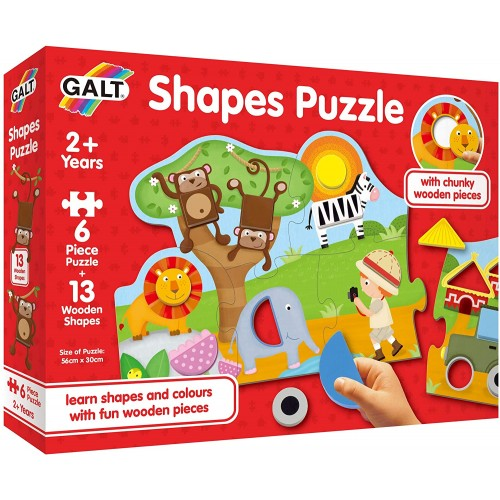 Galt Toys, Shapes Puzzle, Jigsaw Puzzle for Kids
