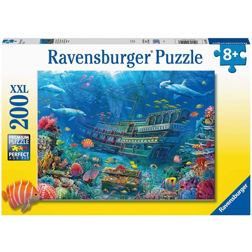 Sunken Ship 200 Piece Jigsaw Puzzle with Extra Large Pieces for Kids Age 8 Years & Up
