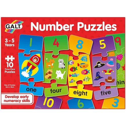 Galt Toys, Number Puzzles, Numbers Jigsaw Puzzle for Kids
