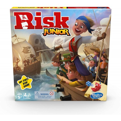 Hasbro Gaming Risk Junior Game, Strategy Board Game, A Child's Intro to the Classic Risk Game