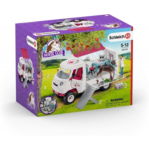 Schleich Horse Club Mobile Veterinarian Clinic Playset for Kids Ages 5-12 with Vet & Horse Toys