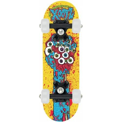 Xootz Childs Mini Skateboard - 17 Inch (Yellow Eyeballs)